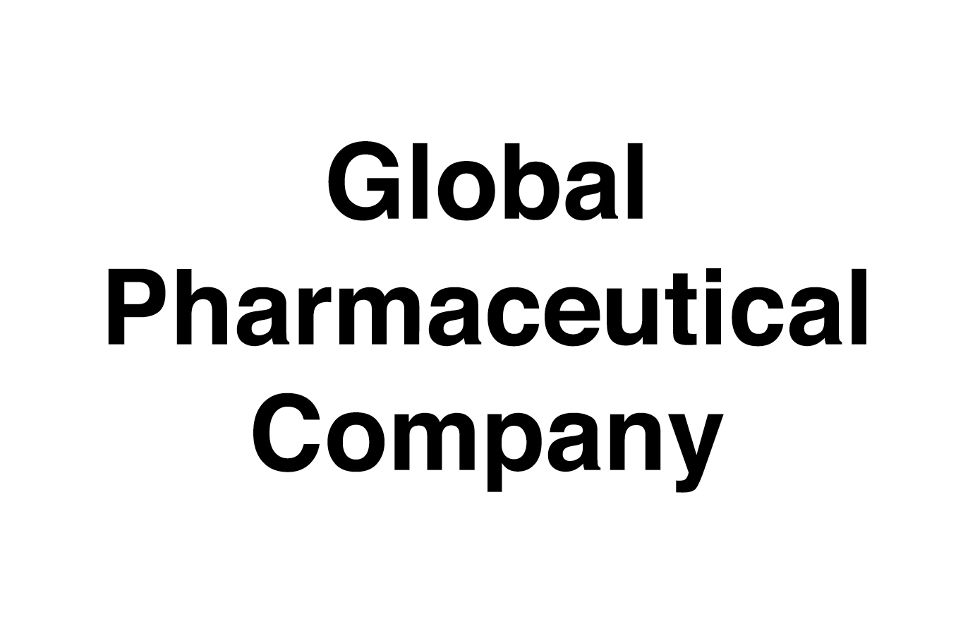 Global Pharmaceutical Company Projects